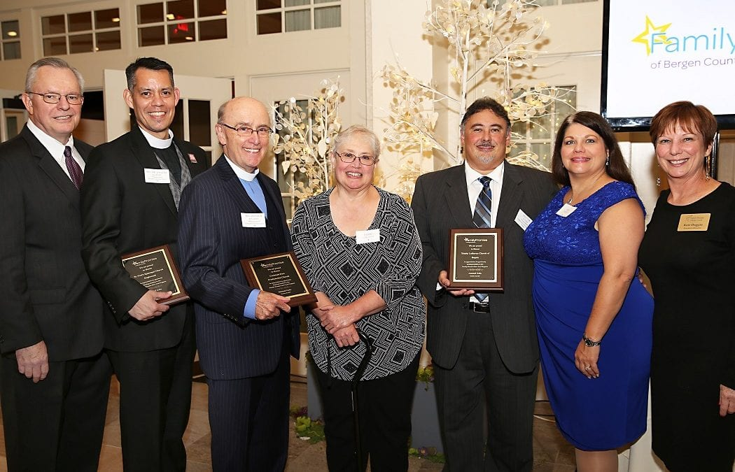 Honorees at Family Promise Gala, which was held on October 30, 2019 at the Indian Trail Club in Franklin Lakes.