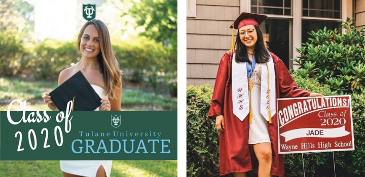 daughters of two staff members of Family Promise of Bergen County graduate